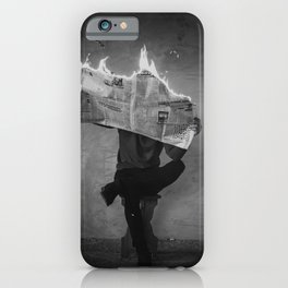 News on Fire (Baclk and White) iPhone Case