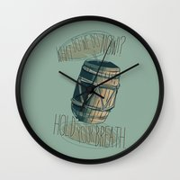 nori Wall Clocks featuring Hold your breath. - Hobbit by KanaHyde