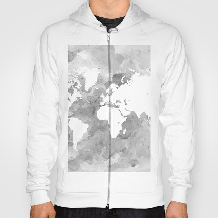 Design 49 grayscale world map hoody by artbylucie society6 design 49 grayscale world map hoody gumiabroncs Image collections