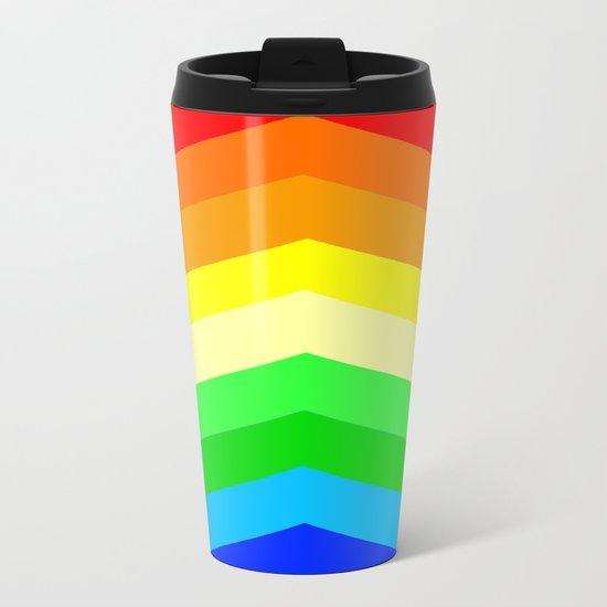 Shades of a Rainbow Metal Travel Mug