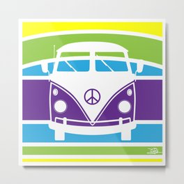 Humboldt Bus - Retro Metal Print