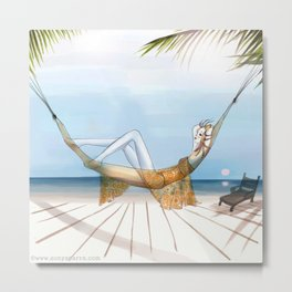 Chill, Relax, it's Summertime!! Metal Print