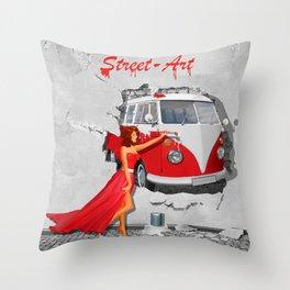 Street-Art in Digital-Art Throw Pillow