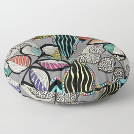 Floral pattern draw Floor Pillow