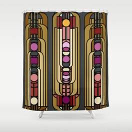 Art Deco Earthy Delight Shower Curtain