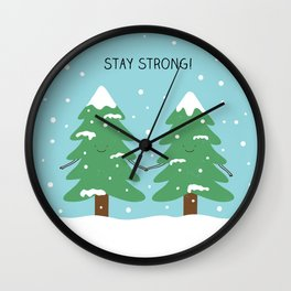 love keeps us strong Wall Clock