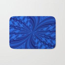 Abstract Butterfly Blue Bath Mat