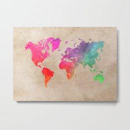 world map 41 Metal Print