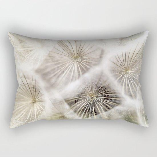 Into the deep- Dandelion Seed Head- Close up Rectangular Pillow