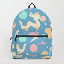 Pastel Bubblegum Dragon Pattern Backpack