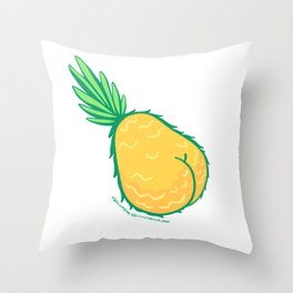 Buttapple Throw Pillow