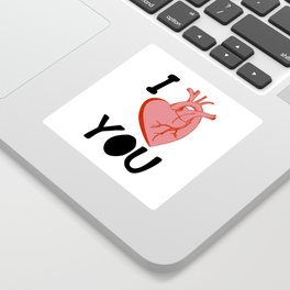 I Love You (white) Sticker