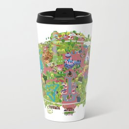 map of the happiest place on earth in CA  Travel Mug