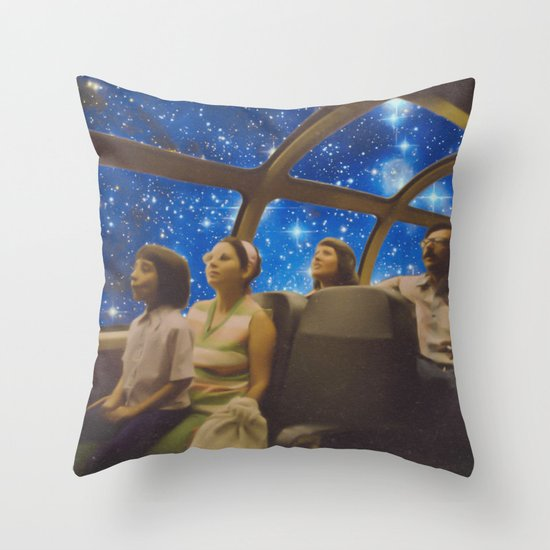 Space Holiday Throw Pillow