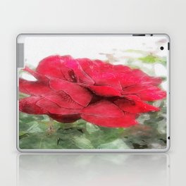 Red Rose Edges Watercolor Laptop & iPad Skin