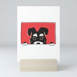 Peeking Schnauzer Mini Art Print