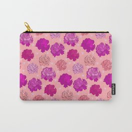 Romantic Pink Peonies Carry-All Pouch