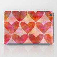 hearts iPad Cases featuring Hearts by LebensARTdesign