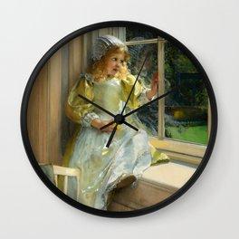 "Lady Laura-Thérésa Alma-Tadema ""A Looking Out O'Window, Sunshine"" Wall Clock"