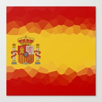 spanish Canvas Prints featuring SPANISH by emscrazy8