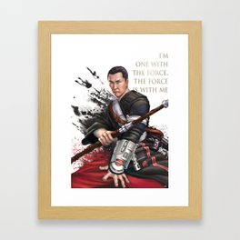 Chirrut Framed Art Print