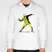 banksy Hoodies featuring Breaking Banksy by IF ONLY