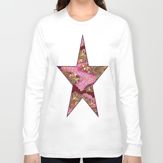 Intricate Yuzen Pattern Long Sleeve T-shirt