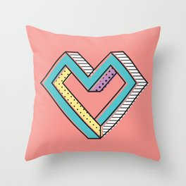 le coeur impossible (nº 2) Throw Pillow