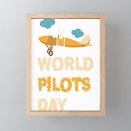 World Pilot Day Framed Mini Art Print