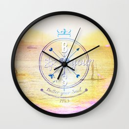 Knuckle Sandwich and Butter your Soul Wall Clock