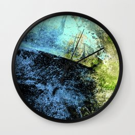 STORMY BLUE EXPLOSION Wall Clock