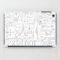 calligraphy iPad Cases featuring Julie's Calligraphy by Julie's Fabrics & Thingummies