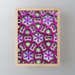 Traditional Moroccan tiles Framed Mini Art Print