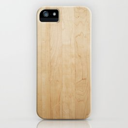 Light Wood Texture iPhone Case