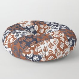 Patched Abstract Floral III Floor Pillow
