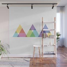 Fig. 029 Rainbow Triangles Geometric Mountains Wall Mural