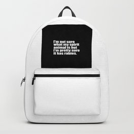 spirit animal funny quote Backpack
