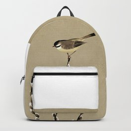 Chickadee And Pussy Willow Backpack