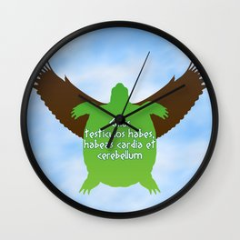 ...their hearts and minds will follow. Wall Clock