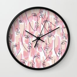 Twin Flames Wall Clock