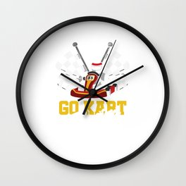Go Karts Motorsport Karting Road Racing Racer Go Kart Racing Gifts Wall Clock
