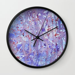 Running Wild Through The Lavender Wall Clock