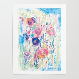 Meadow 4, colorfull design Poster