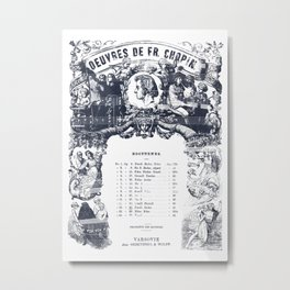 Frederick Chopin Nocturne art Metal Print