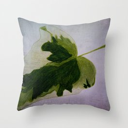 leaf drawing Throw Pillow