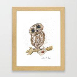 Owl Letter For You Framed Art Print