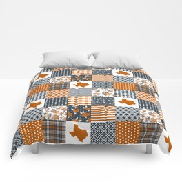 Texas longhorns university quilt pattern gifts sports fan varsity football fan Comforters