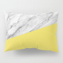 Marble with Meadowlark Yellow Color Pillow Sham