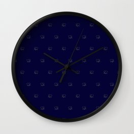 elephant pattern blue/ivory Wall Clock