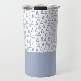Triangles Light Blue Travel Mug